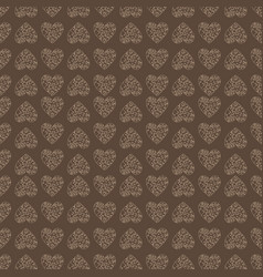 seamless pattern of hearts background vector image