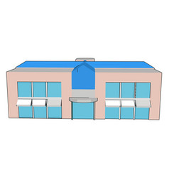 shopping mall on white background vector image