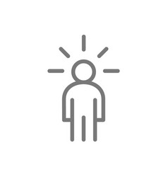 simple man with an idea line icon symbol and sign vector image