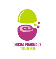 Social pharmacy logo vector