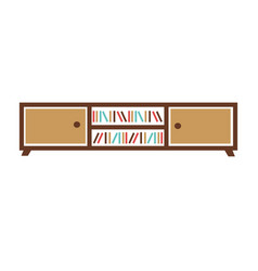 stand with boxes and books vector image