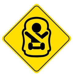 Sticker Baby on board Symbol of a baby in car seat vector