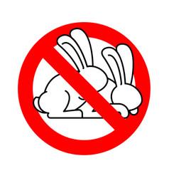 Stop rabbit sex ban bunny hare intercourse red vector