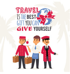 tourism poster with text vector image