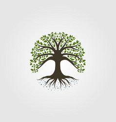 Tree logo vintage nature symbol design vector