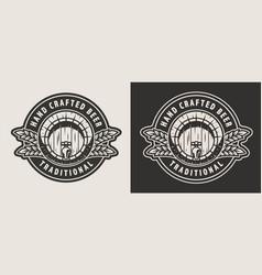 vintage monochrome brewing print vector image
