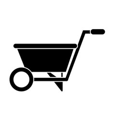 Wheelbarrow garden tool pictogram vector