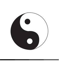 ying yang icon design vector image