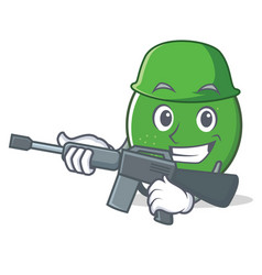 army lime character cartoon style vector image