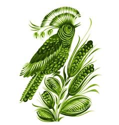 bird flower vector image