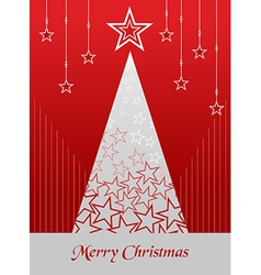 Christmas postage card background vector