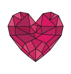 HEART SHAPE5 vector image vector image