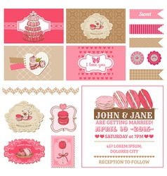 Macaroons and Dessert Collection vector image vector image