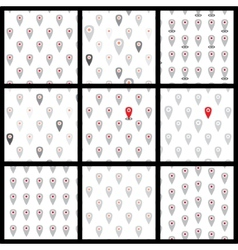 Seamless pattern of flat icons location set vector image