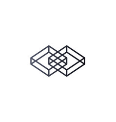 abstract box cube logo icon template blockchain vector image vector image