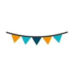 garlands party decoration icon vector image