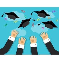 graduates and the joy of graduation vector image vector image