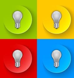 Light bulb icons vector image