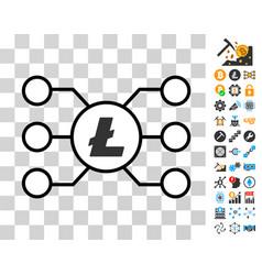 litecoin masternode links icon with bonus vector image vector image