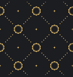 baroque seamless background vector image vector image
