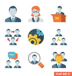 Business people Flat icons vector image vector image