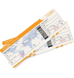 Image of two airline boarding pass tickets vector