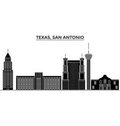 usa texas san antonio architecture city vector image
