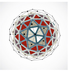 3d digital wireframe spherical object made using vector