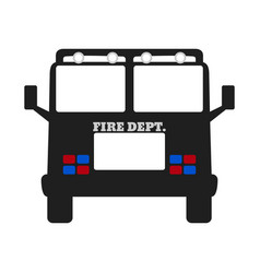fire car elements of the fire departament vector image vector image