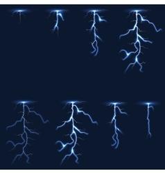 Lightning thunderbolt fx animation frames sprite vector image vector image