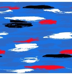 Pattern with brushstrokes and stripes vector image