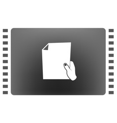 sheet in hand icon vector image vector image