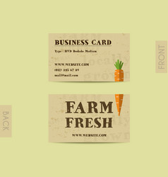 Stylish Farm Fresh visiting card template with vector image vector image