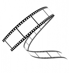 Vector film rolled down vector