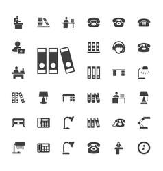 33 desk icons vector