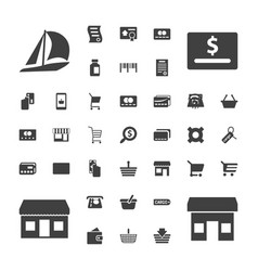 37 commerce icons vector
