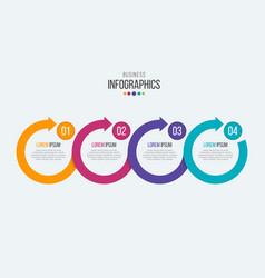 4 steps timeline infographic template vector