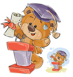 a cheerful brown teddy bear vector image