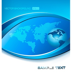 abstract blue elegant background with map and vector image