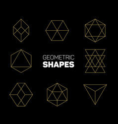 abstract regular geometric shapes vector image