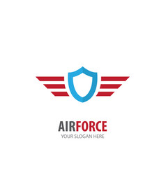 Air force logo for business company simple air vector