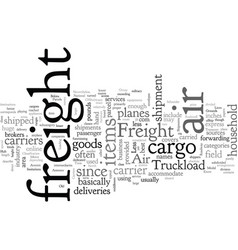 Air freight carrier vector