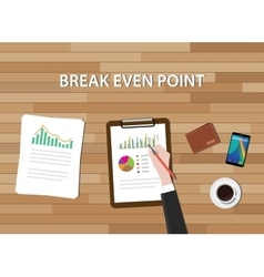 Bep break even point graph chart and vector
