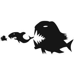 big fish eating small fish vector image