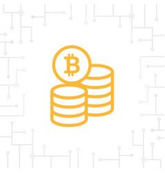 bitcoin coin flat icon vector image