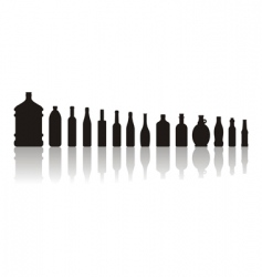 Black bottles vector