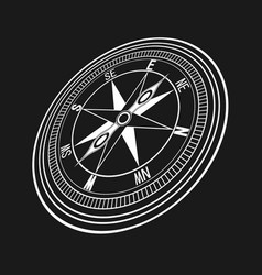 black wind compass vector image