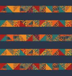 Boho seamless squares lines vector