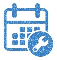Calendar Setup Grainy Texture Icon vector