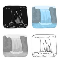 Canadian waterfall canada single icon in cartoon vector
